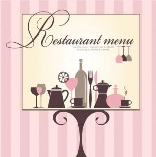 歐式菜單封面設計圖片