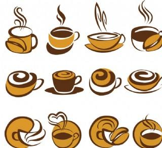 手繪咖啡圖片